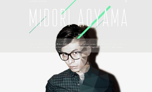 Midori Aoyama 18个超酷的多边形背景网页设计