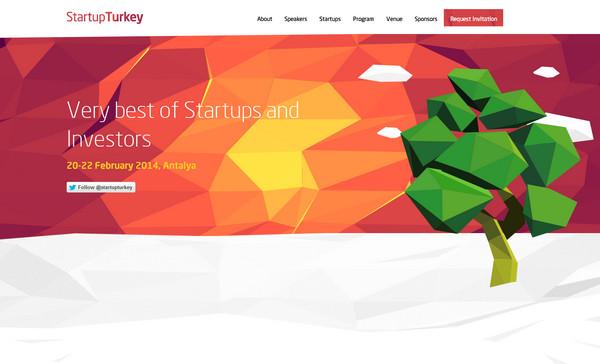 Startup Turkey 18个超酷的多边形背景网页设计