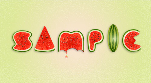 Use Brushes to Create a Watermelon Text Effect in Illustrator