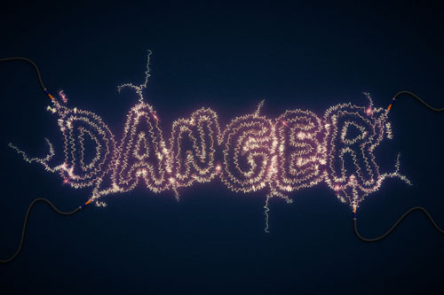 Danger! Danger! High Voltage! Create an Electric Text Effect in Illustrator