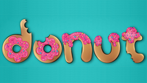 How to Create a Donut Font Style That Will Have Your Clients Drooling