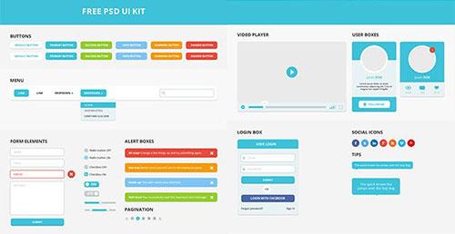 七月干货速递!一组配色超赞的UI KIT免费下载