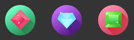 AI新手教程:教你创建精致闪亮的长投影宝石 - 优设-UISDC