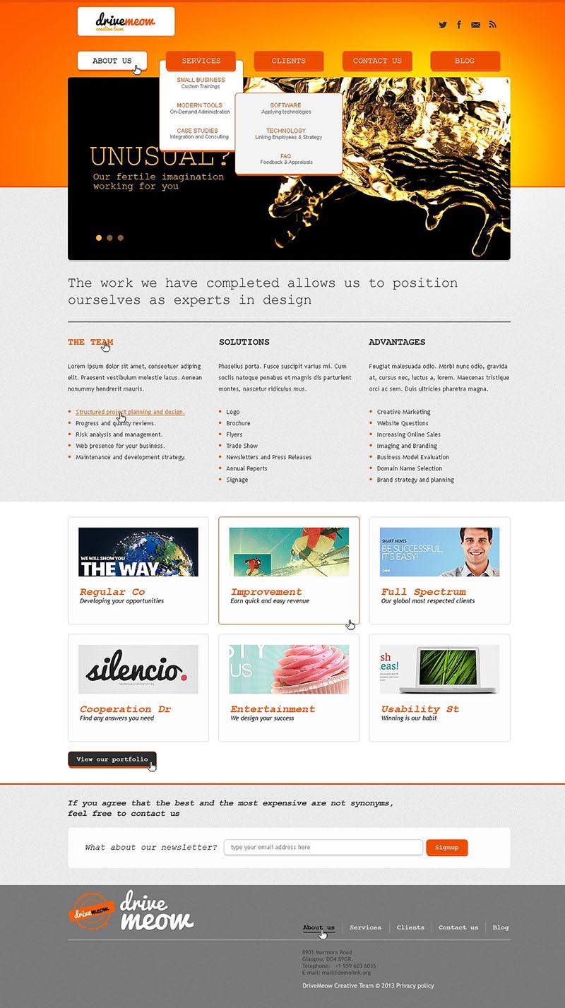 Responsive Web Design Studio Joomla Template