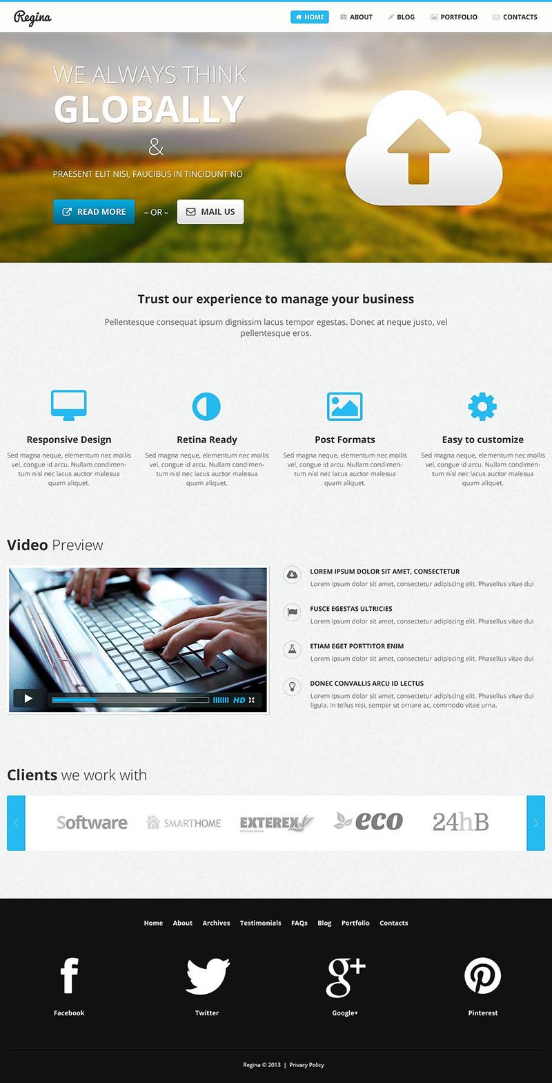 Web Designer Page WordPress Theme