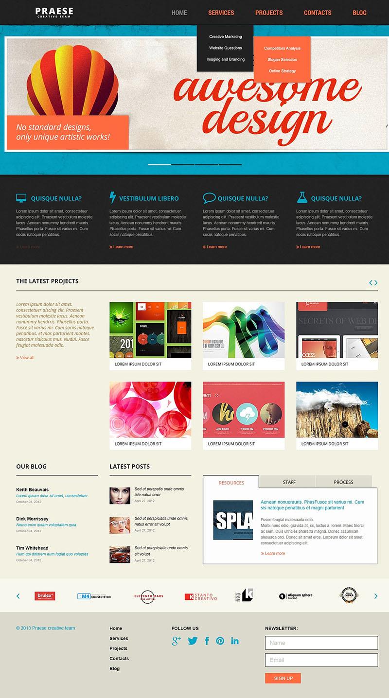 Web Design Company Joomla Template