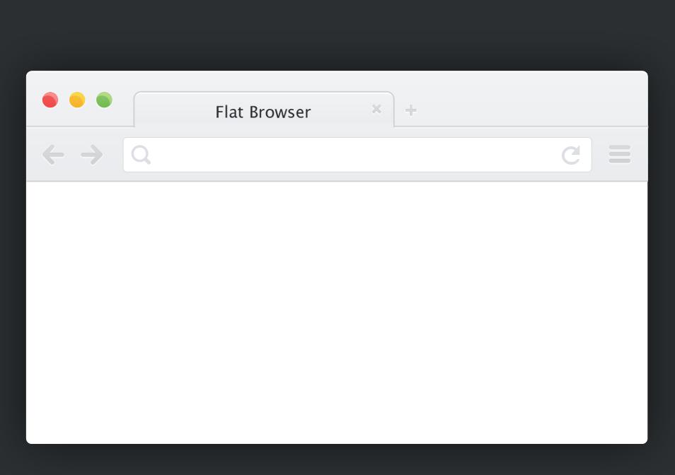 八月新鲜资源!30+扁平化浏览器原型免费下载