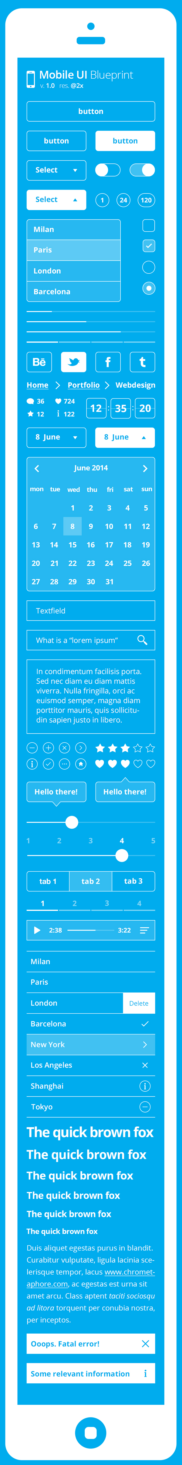 Mobile UI Blueprint Kit