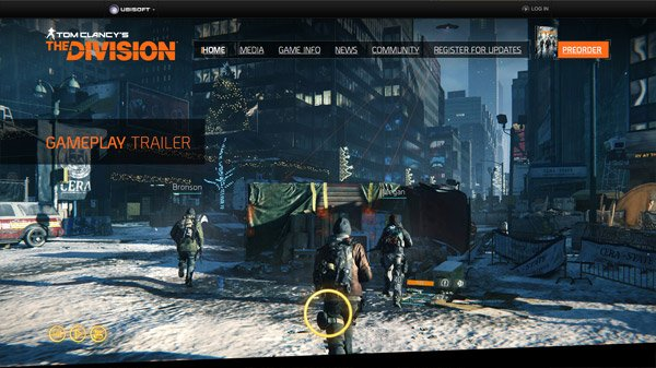 Tom Clancy's The Division 网页设计欣赏