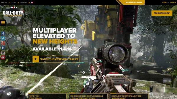 Call of Duty: Advanced Warfare 网页设计欣赏