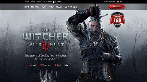 The Witcher 3: Wild Hunt 网页设计欣赏