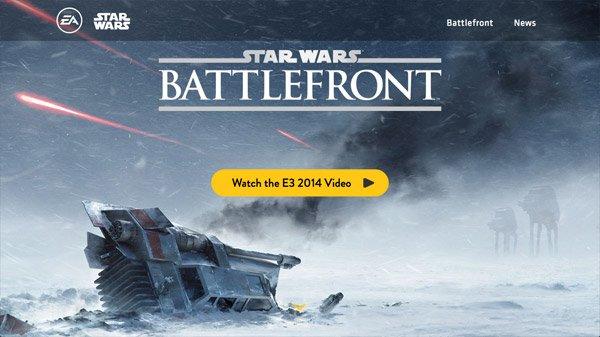 Battlefront Starwars 网页设计欣赏