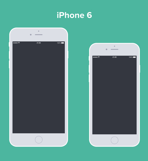 Free iPhone 6 and iPhone 6 Plus Mockup Templates (PSD, AI & Sketch) - Free Download - 22