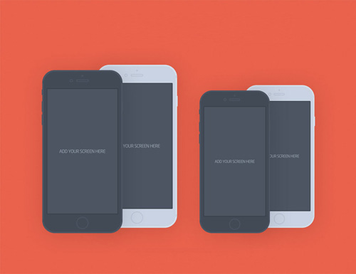 Free iPhone 6 and iPhone 6 Plus Mockup Templates (PSD, AI & Sketch) - Free Download - 25