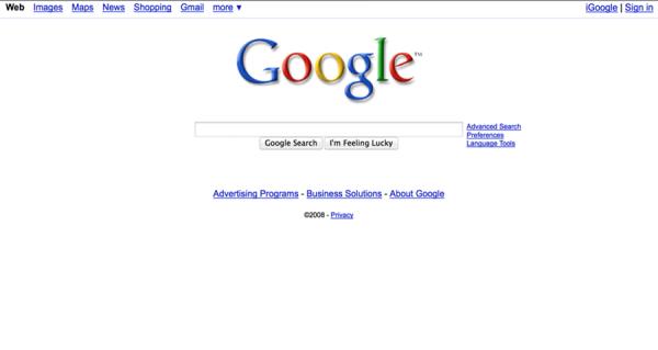 生日快乐!那些年我们用过的谷歌首页