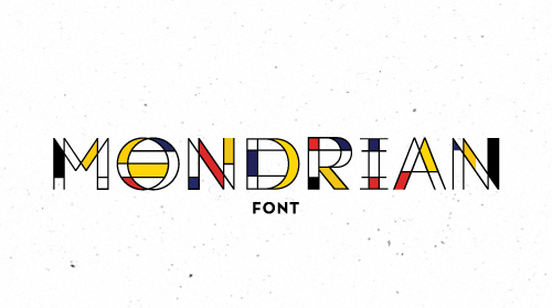 Mondrian free font family download