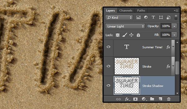 PS教程!手把手教你创建特别逼真的沙滩字效果