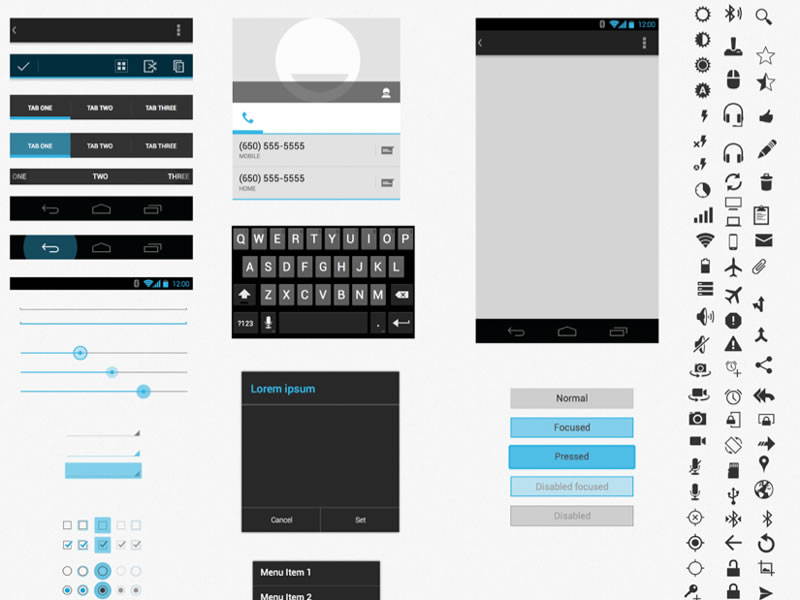 Android UI XHDPI Template