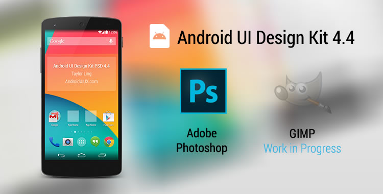 Android UI Design Kit 4.4 PSD