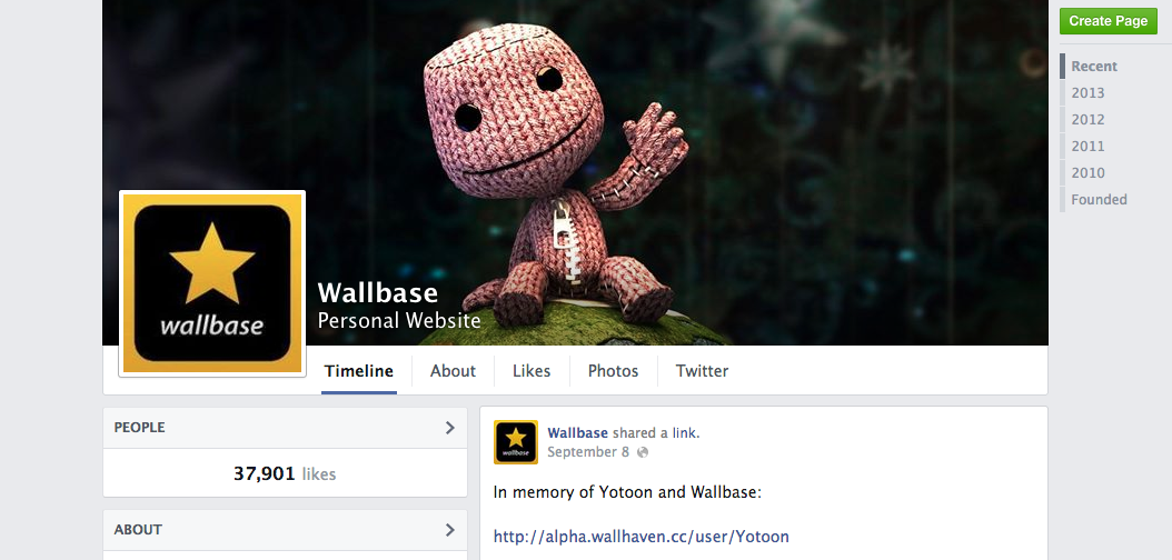 facebook wallbase