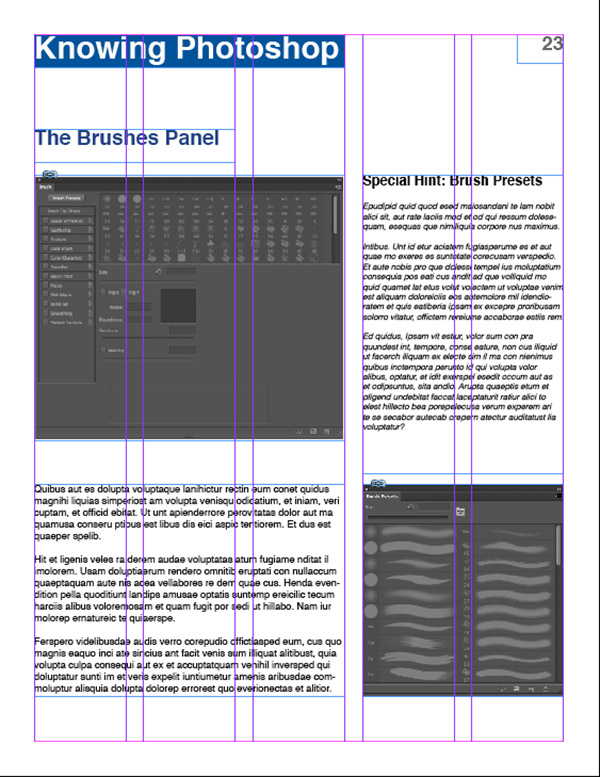 Grids - InDesign Example