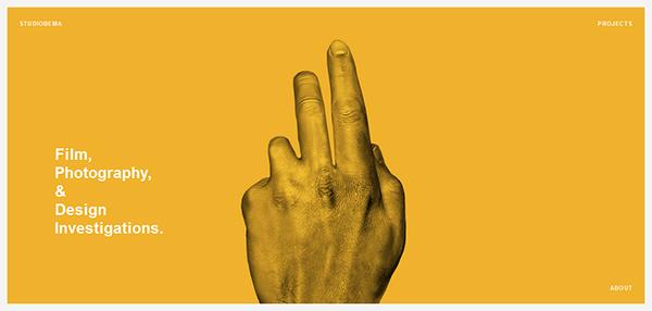 大胆有范!25个配色惊人的黄色网站设计欣赏
