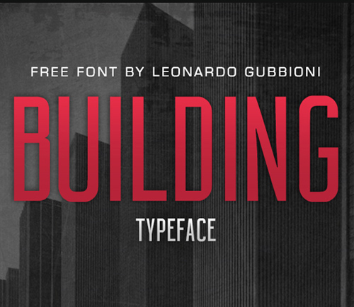 BUILDING Free Font