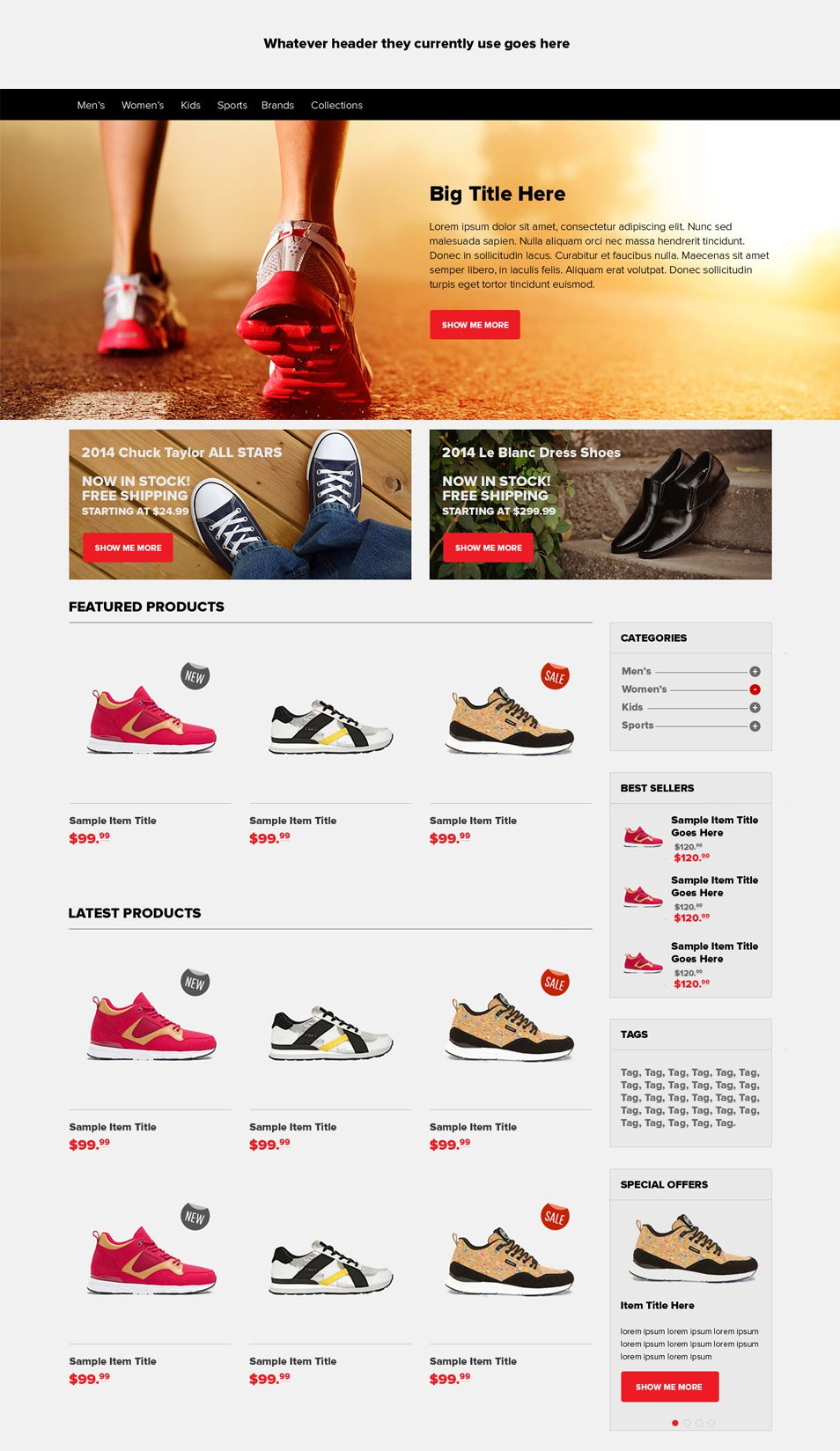 E commerce Home Page PSD