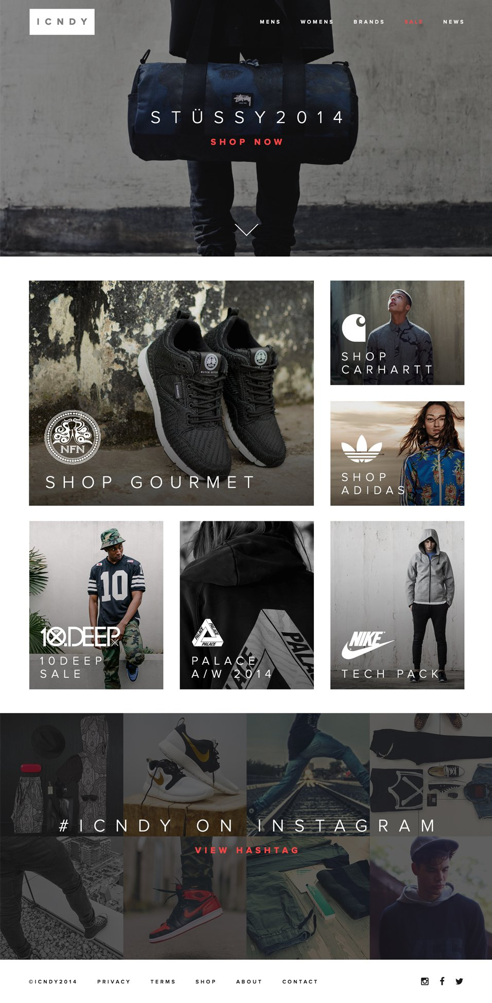 ICNDY  E commerce Clothing Web Template