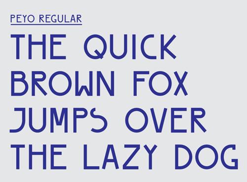 PEYO Regular – Free Font