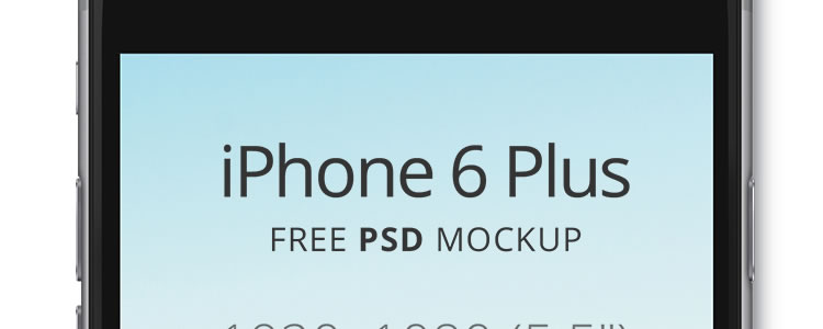 iPhone 6 Plus Mockup PSD