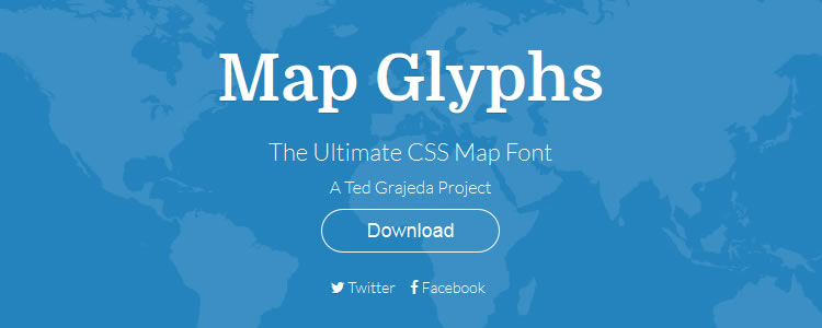 Map Glyphs - The Ultimate CSS Map Font