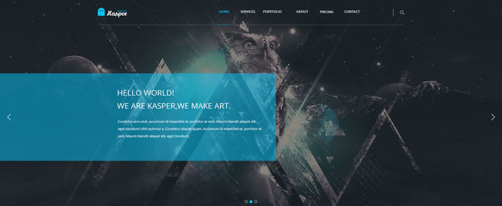 Kasper - One Page Creative Template