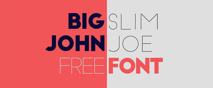 Big John / Slim Joe free font