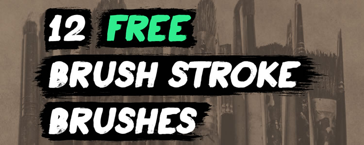 12 Brush Stroke Illustrator Brushes