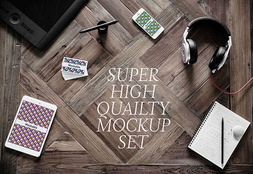 5 high-quality photographic mockups