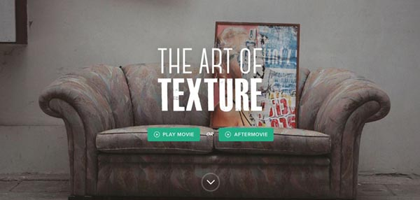 03 impressive promotional websites artoftextures 20 Impressive Promotional Website Designs