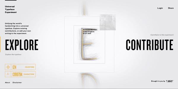 04 impressive promotional websites universaltypeface 20 Impressive Promotional Website Designs