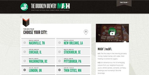 11 impressive promotional websites brooklynbrewerymash 20 Impressive Promotional Website Designs