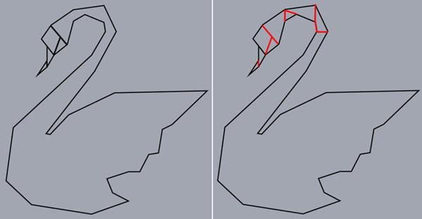 AI教程!手把手教你创建折纸风格的矢量天鹅图