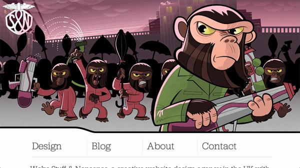 FUN转想象力!20个妙趣横生的卡通人物网站