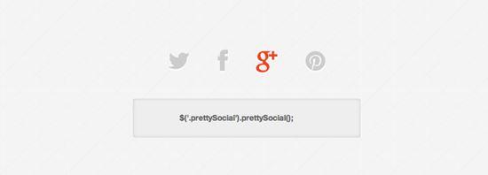jQuery prettySocial