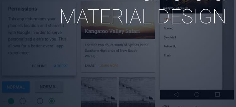 该跟上潮流了!一大波优质的Material Design资源免费下载