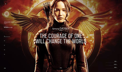 The Hunger Games Exclusive 网页设计欣赏