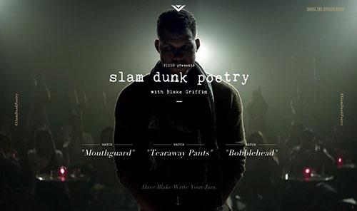 Slam Dunk Poetry 网页设计欣赏