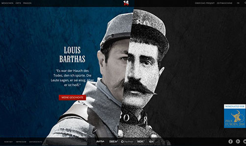 14 – Diaries of the First World War 网页设计欣赏