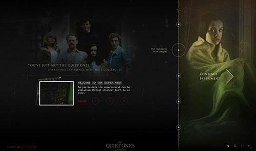 The Quiet Ones 网页设计欣赏