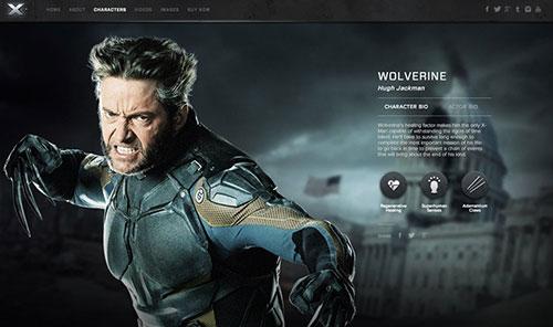 X-Men: Days of Future Past 网页设计欣赏