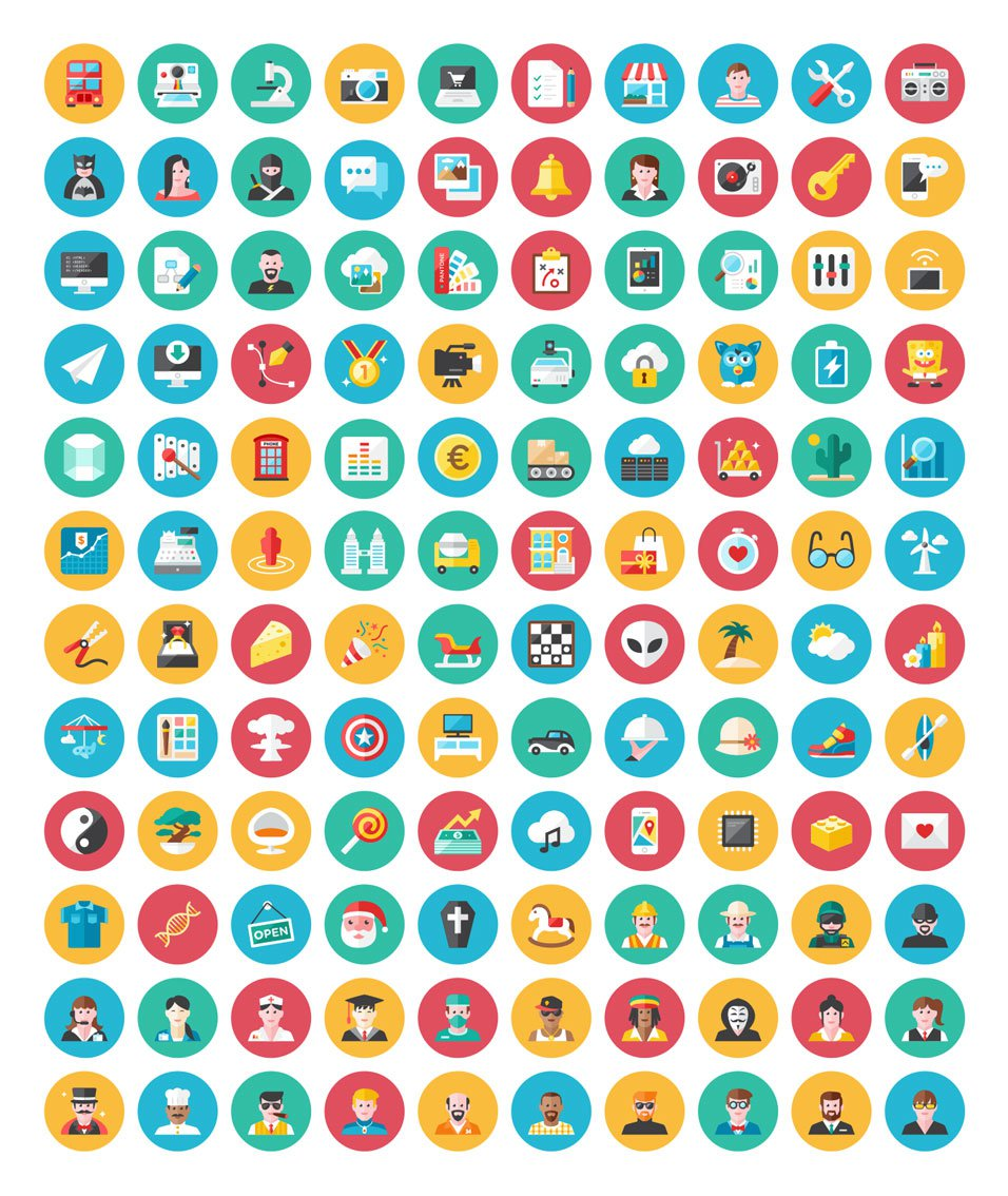 120 Free Vector Icons