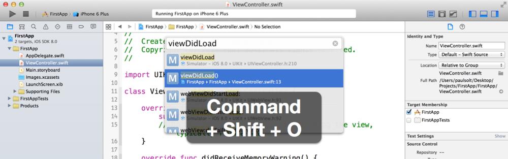 成为会编程的设计师!14个常用的Xcode快捷键操作说明